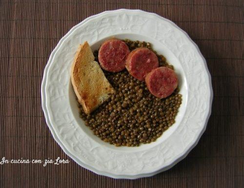 Lenticchie con cotechino ricetta classica