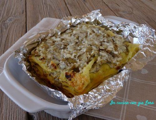 Lasagne con carciofi e ricotta senza besciamella