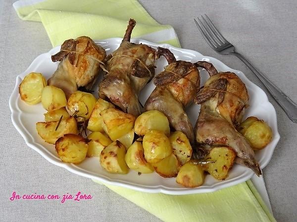 Ricetta Per Quaglie Arrosto.Quaglie Al Forno Con Patate In Cucina Con Zia Lora