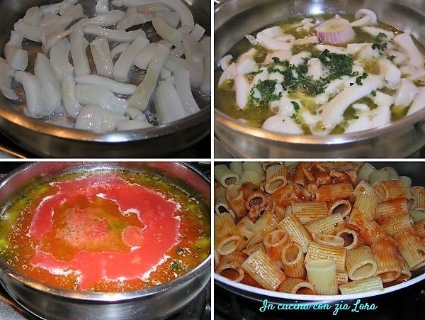 Preparazione della pasta al ragù di seppia semplice e saporita