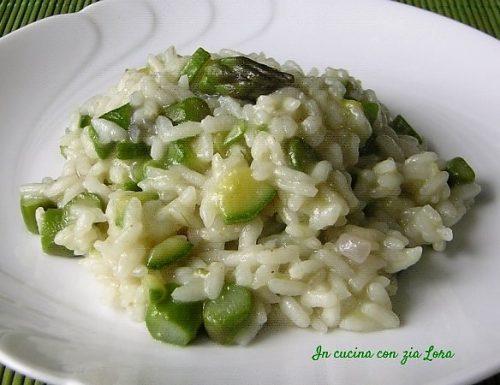 Risotto zucchine e asparagi