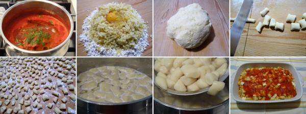 Preparazione degli gnocchi alla sorrentina ricetta completa