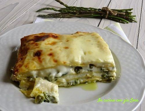 Lasagne con asparagi e besciamella ricetta facile