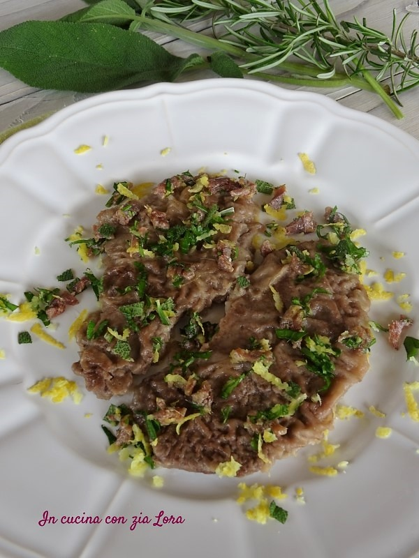 Scaloppine di vitello con gremolada