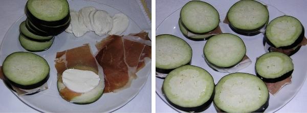 Preparazione delle melanzane fritte ripiene