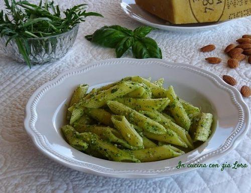 Pasta al pesto di rucola e basilico