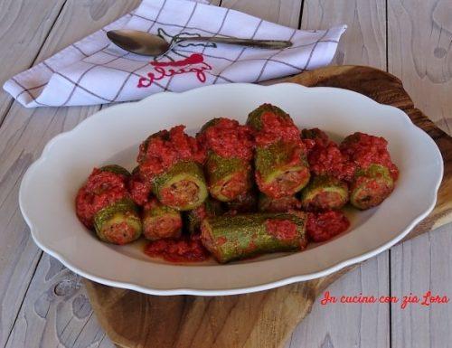 Zucchine ripiene al pomodoro