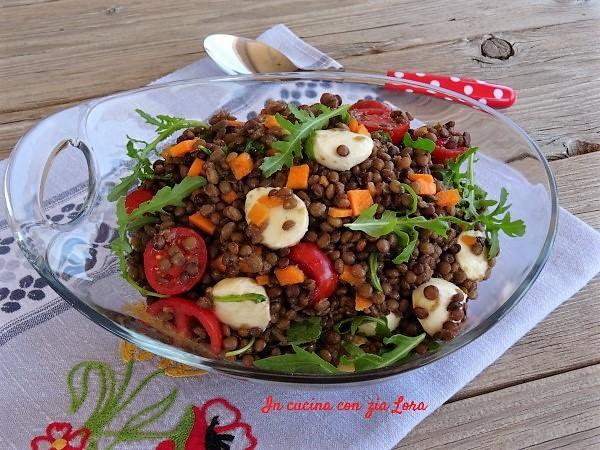 Insalata di lenticchie versione estate