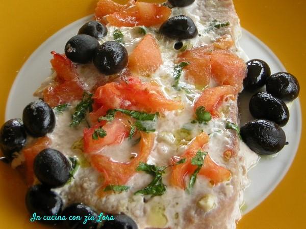 Bistecca di tonno al forno con olive