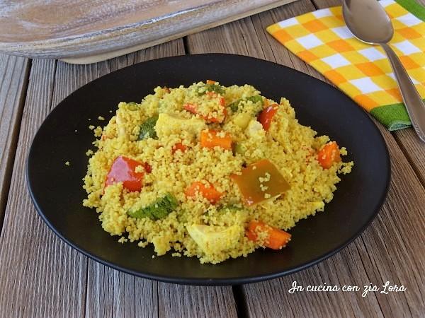 Cous cous integrale con pollo e verdure