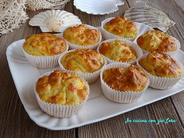 Muffin salati con surimi e gamberetti
