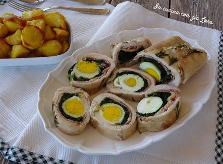 Arrotolato di pollo al forno con patate