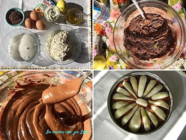 Preparazione della Torta di pere yogurt e cacao
