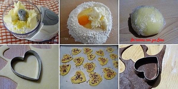 Preparazione dei biscotti al burro deliziosa idea regalo