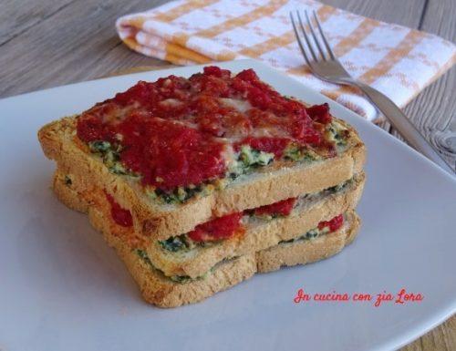 Lasagne di pancarrè con ricotta e spinaci