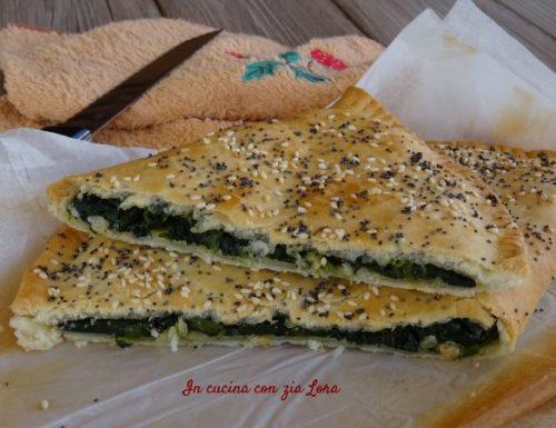 Torta veloce agli spinaci con pasta brisé