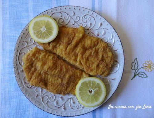 Cotolette di merluzzo fritte dorate