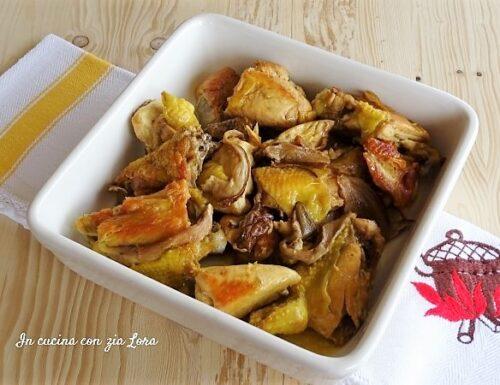 Pollo in padella con porcini secchi