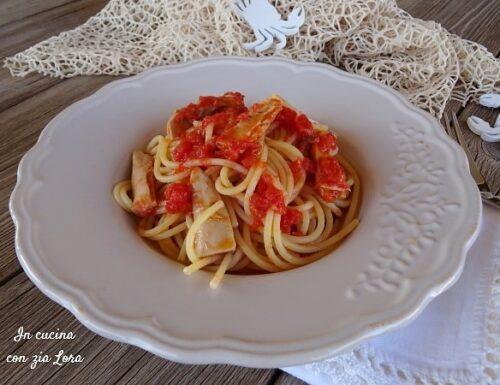 Spaghetti tonno e pomodoro