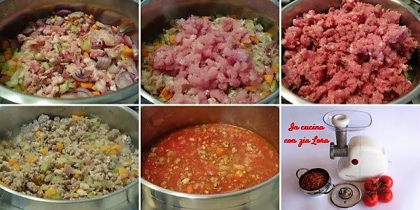 Preparazione del ragù alla bolognese ricetta classica