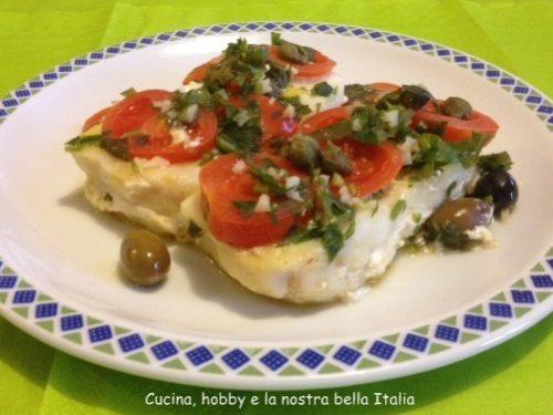 Tranci di merluzzo con olive