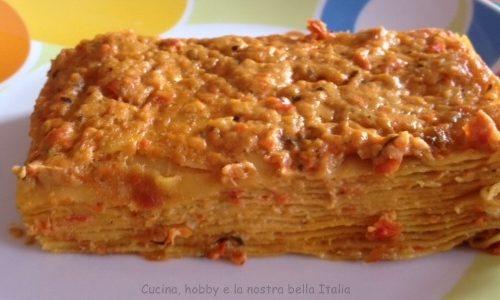 Lasagne con radicchio rosso