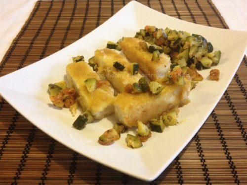 Merluzzo dorato con dadolata di verdure