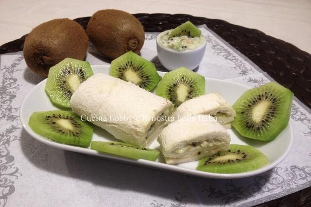 involtini di pancarre con kiwi e gorgonzola