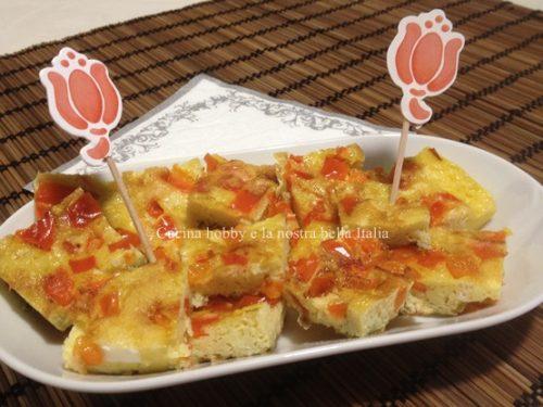 Frittata con peperone rosso