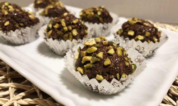 Tartufini nutella e pistacchio