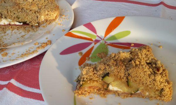 Sbriciolata salata crescenza, zucchine e bresaola