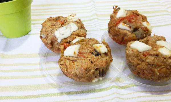 Muffin salati ricotta e verdure