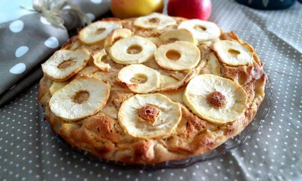 Torta di mele integrale con ricotta