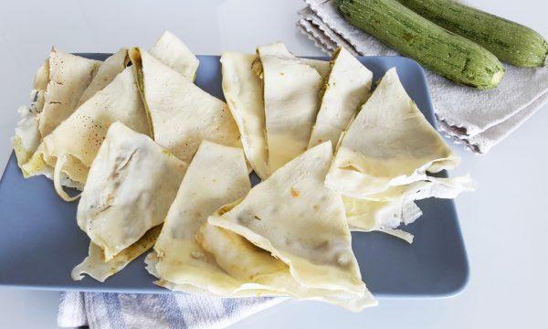 Crepes senza glutine con crema di zucchine