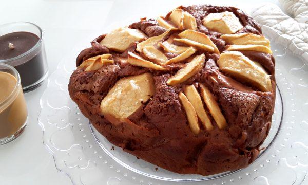 Torta al cacao e mele senza glutine e burro