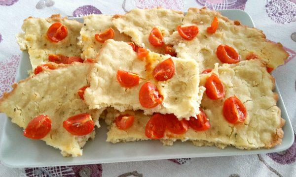 Focaccia con pomodorini senza glutine
