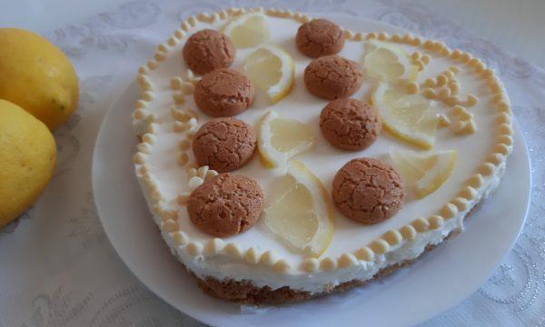 Cheesecake al limone a amaretti