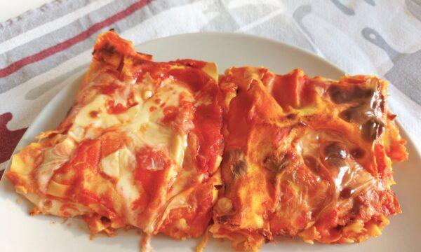 Lasagne vegetariane con formaggio
