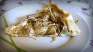 Torta rustica con ricotta e carciofi
