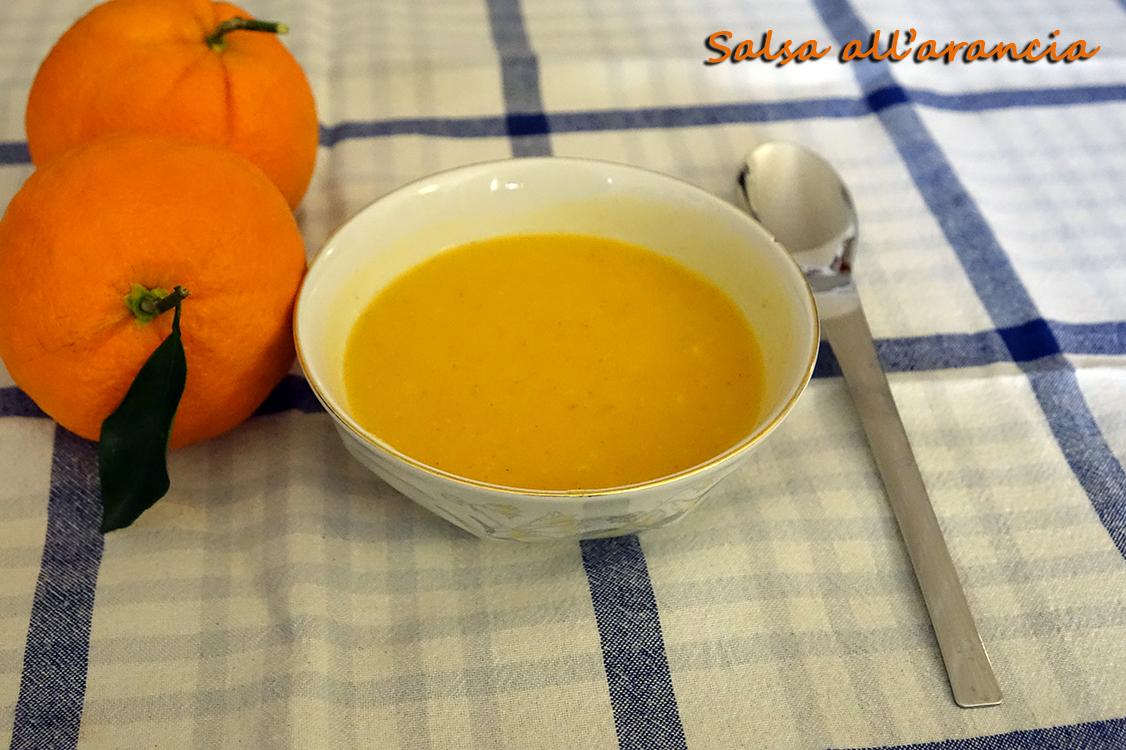 Salsa all'arancia per pesce e carne arrosto