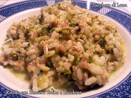 Risotto con Zenzero Tonno e Zucchine