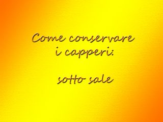 Capperi sotto sale, come conservarli | Dissapore