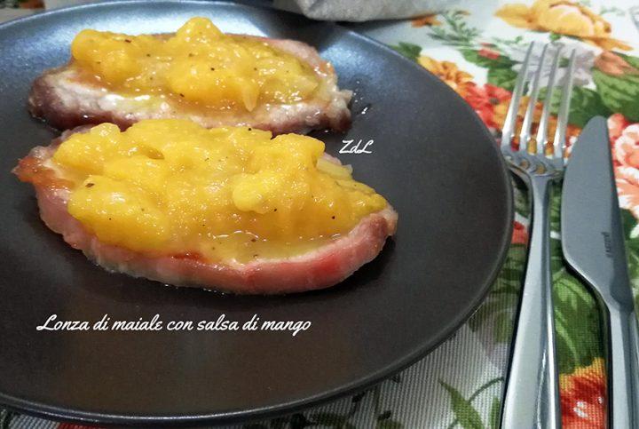 lonza di maiale con salsa di mango