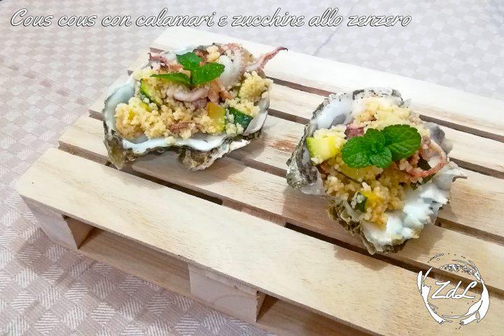 cous cous con calamari e zucchine