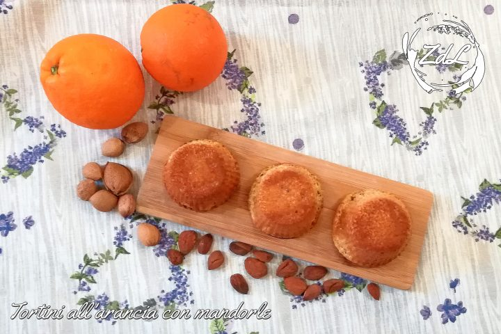 tortini all'arancia con mandorle