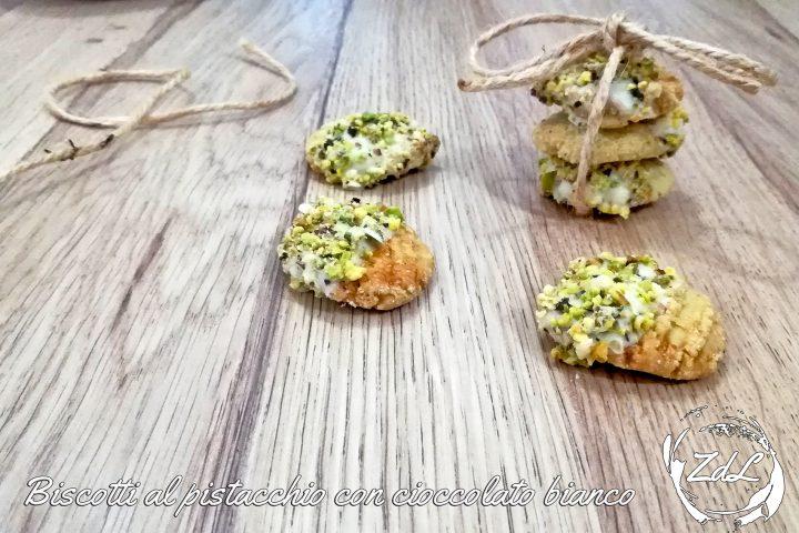 Biscotti al pistacchio con cioccolato bianco