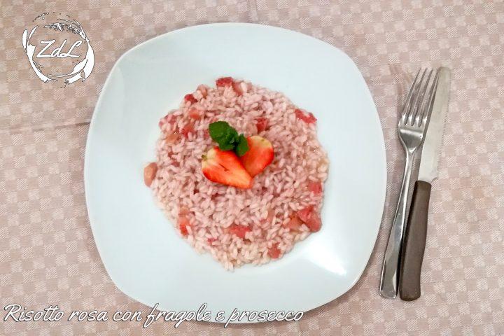 risotto rosa con fragole e prosecco