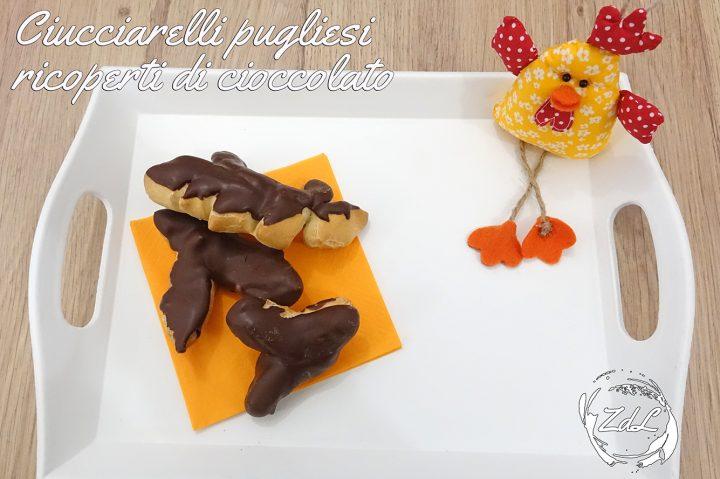 Ciucciarelli pugliesi ricoperti di cioccolato