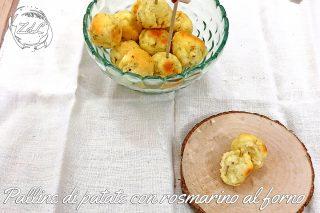 Palline di patate con rosmarino al forno