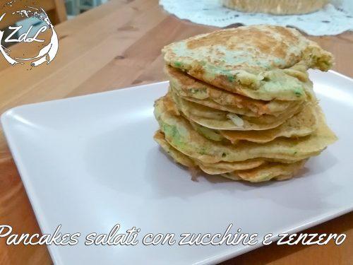 Pancakes salati con zucchine e zenzero